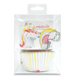 Set déco 24 caissettes + 24 cake toppers Licorne