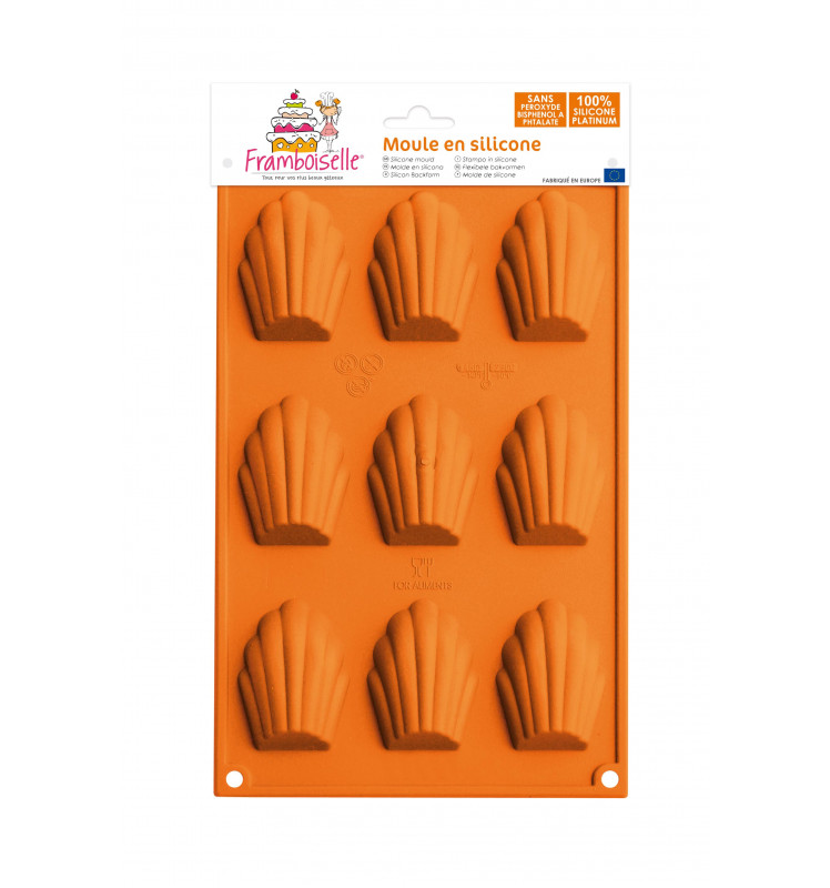 Moule silicone 9 madeleines
