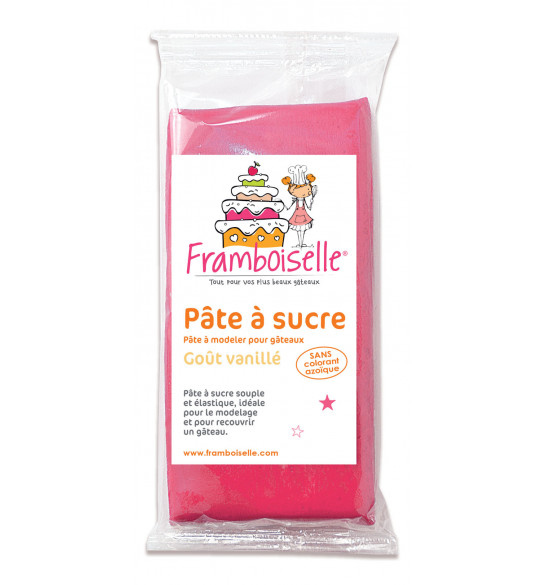 Sachet pâte à sucre fushia 250g
