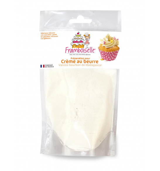 Préparation crème au beurre vanille 200g