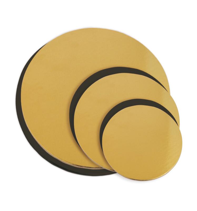 6 supports fins à gâteaux or/noir 14, 18 et 22 cm