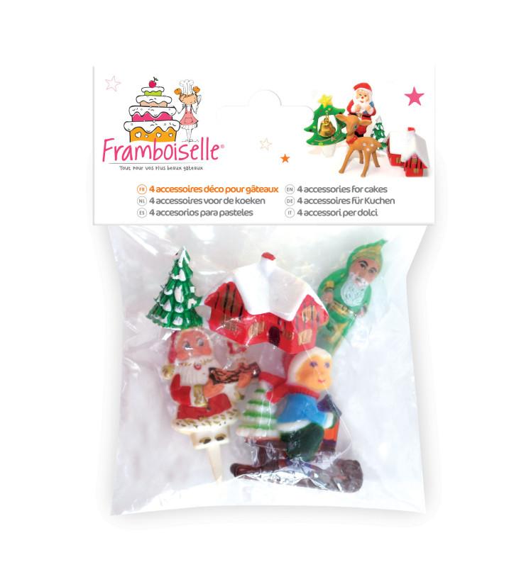 4 Sujets plastique Noël
