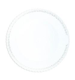 Plat dentelle rond blanc 32 cm