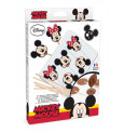 Kit moules sucettes chocolat Mickey & Minnie