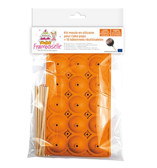 Moule silicone cake pops + bâtonnets