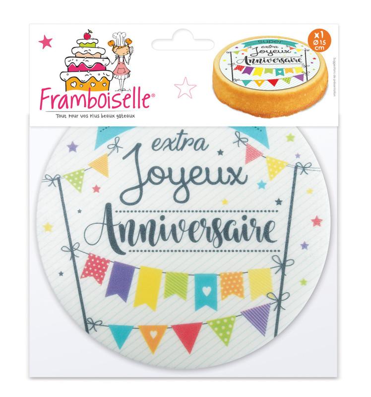 """1 Disque azyme """"Joyeux anniversaire"""""""