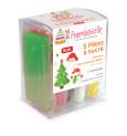 5 pâtes à sucre Noël (rouge, vert foncé, blanc, marron, jaune) 400g