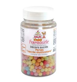 Pot décors sucrés perles multicolores 50g réf.FRA9033