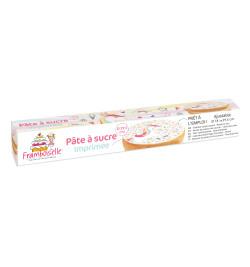 Rouleau pâte à sucre imprimée Licorne réf.FRA9707